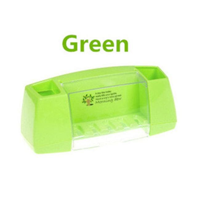 Multifunctional Toothbrush Racket Holder Storage Box Bathroom Makeup Accessories Products Sets Green