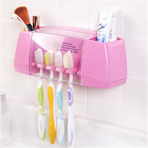 Multifunctional Toothbrush Racket Holder Storage Box Bathroom Makeup Accessories Products Sets