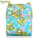 [Mumsbest] 2017 Washable Baby Cloth Diaper Cover Waterproof Cartoon Owl Baby Diapers Reusable Cloth 184 / with 1 insert
