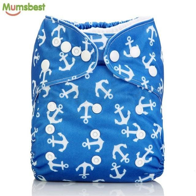 [Mumsbest] 2017 Washable Baby Cloth Diaper Cover Waterproof Cartoon Owl Baby Diapers Reusable Cloth 114 / with 1 insert