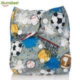 [Mumsbest] 2017 Washable Baby Cloth Diaper Cover Waterproof Cartoon Owl Baby Diapers Reusable Cloth 108 / with 1 insert