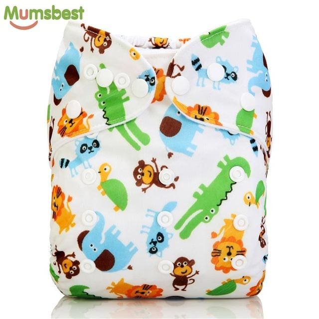 [Mumsbest] New Baby Washable Cloth Diaper Cover Cartoon Animal Adjustable Nappy Reusable Cloth - MBMCITY