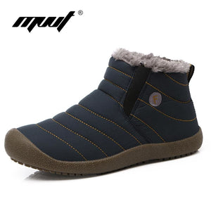 MVVT Super warm Men winter boots Unisex quality snow boots for men waterproof warm winter shoes - MBMCITY