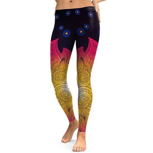 Nadanbao 2018 Women Leggings Mandala Flower Digital Print Slim Pink Fitness Woman Leggins Workout Kdk1733 / L