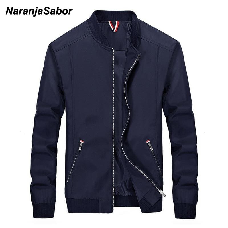 NaranjaSabor Men's Brand Clothing 2018 Autumn Mens Casual Jacket Mens Windbreaker Spring Slim Men - MBMCITY