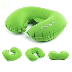 Naturehike Portable U Shape Inflatable Pillow Sleeping Gear Travel Inflatable Cushion Soft Neck Purple