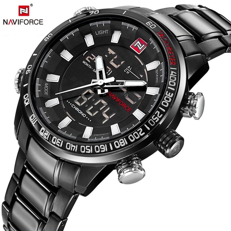 Naviforce Top Brand Luxury Mens Watches Fashion Casual Sport Wristwatch Waterproof Date Clock Army