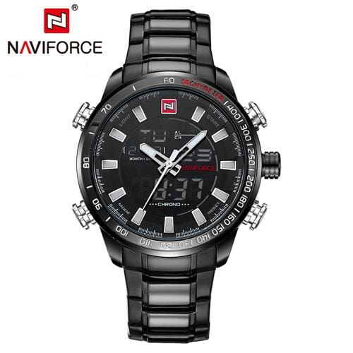 Naviforce Top Brand Luxury Mens Watches Fashion Casual Sport Wristwatch Waterproof Date Clock Army B B W