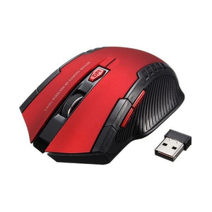 New 2.4Ghz Mini Portable Wireless Mouse Usb Optical 2000Dpi Adjustable Professional Game Gaming Red
