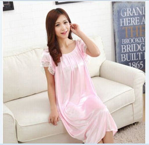 New 2015 Sexy Womens Casual Chemise Nightie Nightwear Lingerie Nightdress Sleepwear Dress free As the photo show 6 / L