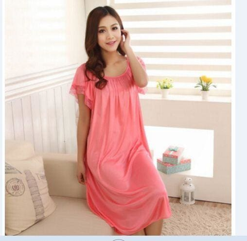New 2015 Sexy Womens Casual Chemise Nightie Nightwear Lingerie Nightdress Sleepwear Dress free As the photo show 9 / L