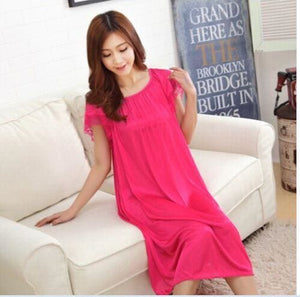 New 2015 Sexy Womens Casual Chemise Nightie Nightwear Lingerie Nightdress Sleepwear Dress free As the photo show 5 / L