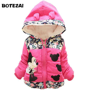 New 2017 Autumn & Winter Children Minnie Hoodies Jacket & Coat Baby Girls Clothes Kids Toddle