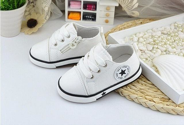 New 2017 Baby Casual Shoes 3 Colors Classic Baby Canvas Shoes Fashion Brand Baby Boys sneakers