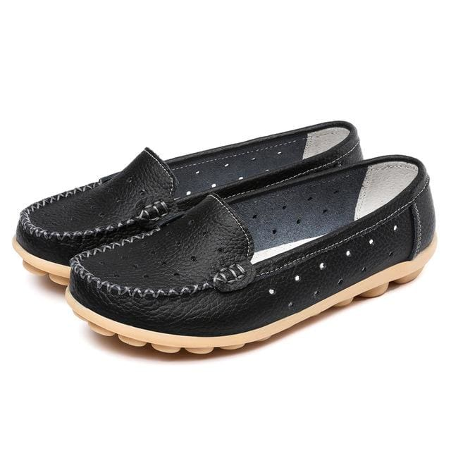 New 2017 Women genuine Leather Shoes Slip on women Flats Comfort shoes woman moccasins Spring summer - MBMCITY