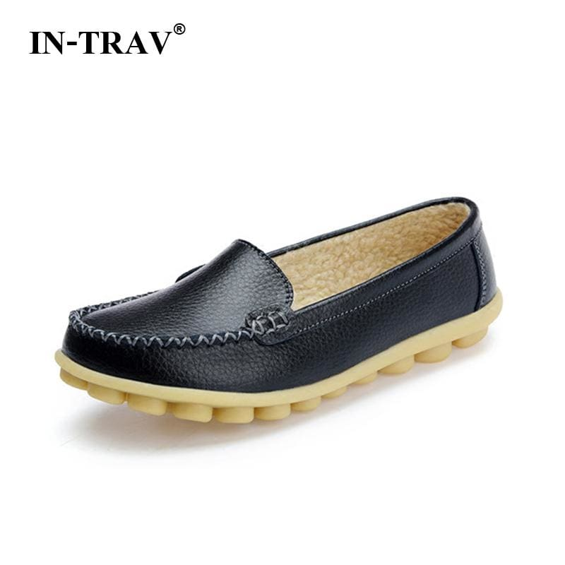 New 2017 Women genuine Leather Shoes Slip on women Flats Comfort shoes woman moccasins Spring summer