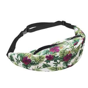 New 3D Colorful Waist Pack for Men Fanny Pack green leaves Style Bum Bag Women Money Belt Travelling