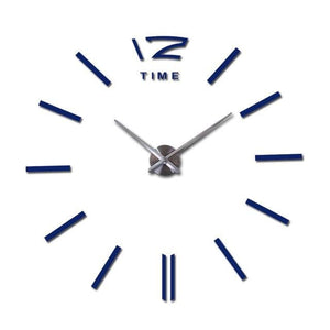 New arrival 3d home decor quartz diy wall clock clocks horloge watch living room metal fashion - MBMCITY