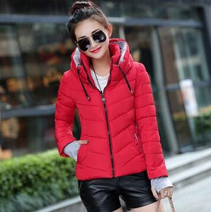New Arrival Ladies Fashion Coat Winter Jacket Outerwear Short Wadded Jacket Female Padded Parka Yellow / M