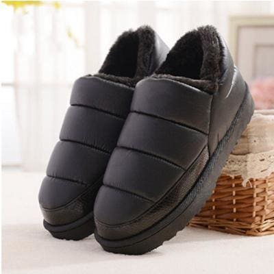 New Arrival Waterproof Women Pu Leather Snow Boots Warm Short Plush Ankle Boot Female Winter Shoes Black / 4.5