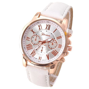 New Best Quality Geneva Platinum Watch Women Pu Leather Wristwatch Casual Dress Reloj Ladies Gold
