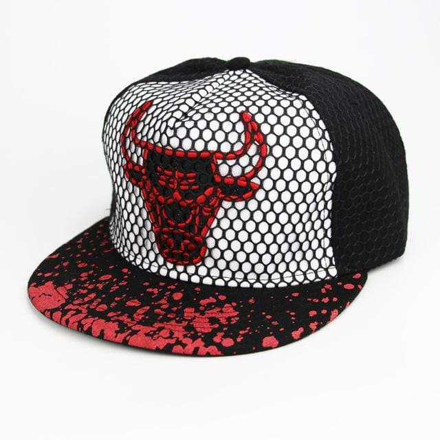 New Brand Bulls Hip Hop Cap Men Women Baseball Caps Snapback Solid Colors Cotton Bone European White