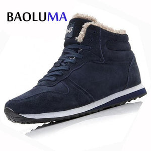 New Couple Unisex Super Warm Man Boot Fashion Men Winter Snow Boots Keep Warm Boots Plush Ankle Work - MBMCITY