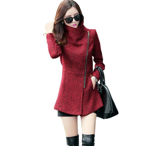 New Europe 2018 Autumn Winter Womens Temperament Woolen Jackets Coats Female Casual Clothing
