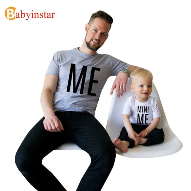 New Family Look Summer ME and MINI ME Pattern Family Men Boy t shirt Father and Son Clothes Top Tee - MBMCITY