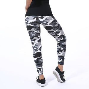 New Fashion 2018 Camouflage Printing Elasticity Leggings Green/Blue/Gray Camouflage Fitness Pant