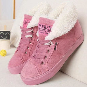 New Fashion Fur Female Warm Ankle Boots Women Boots Snow Boots And Autumn Winter Women Shoes Pink / 37