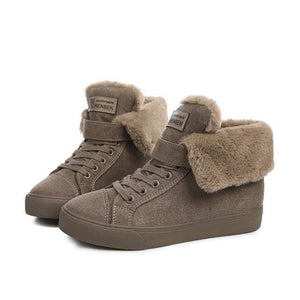 New Fashion Fur Female Warm Ankle Boots Women Boots Snow Boots And Autumn Winter Women Shoes Light Brown / 37