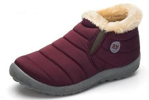 New Fashion Men Winter Shoes Solid Color Snow Boots Cotton Inside Antiskid Bottom Keep Warm.