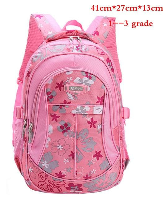 New Floral Printing Children School Bags Backpack For Teenage Girls Boys Teenagers Trendy kids Book Pink small