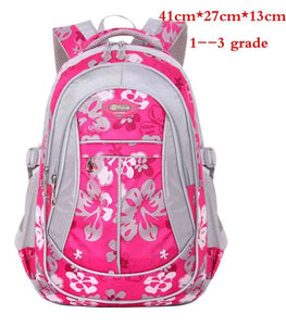 New Floral Printing Children School Bags Backpack For Teenage Girls Boys Teenagers Trendy kids Book Rose red small