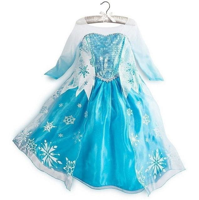 New Girls cartoon princess Dress Halloween Costume Princess Dress Girl Christmas Dress Kids Cosplay