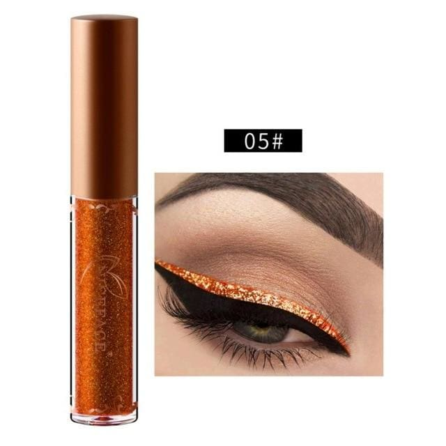 New Golden Shimmer Makeup Liquid Eyeliner Metallic 12 Colors Glitter Eyeliner Make Up Diomand 05