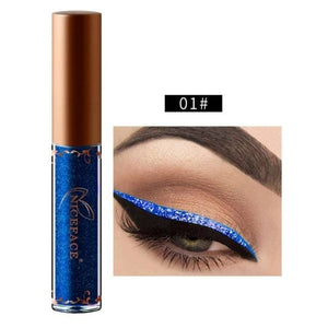 New Golden Shimmer Makeup Liquid Eyeliner Metallic 12 Colors Glitter Eyeliner Make Up Diomand 01