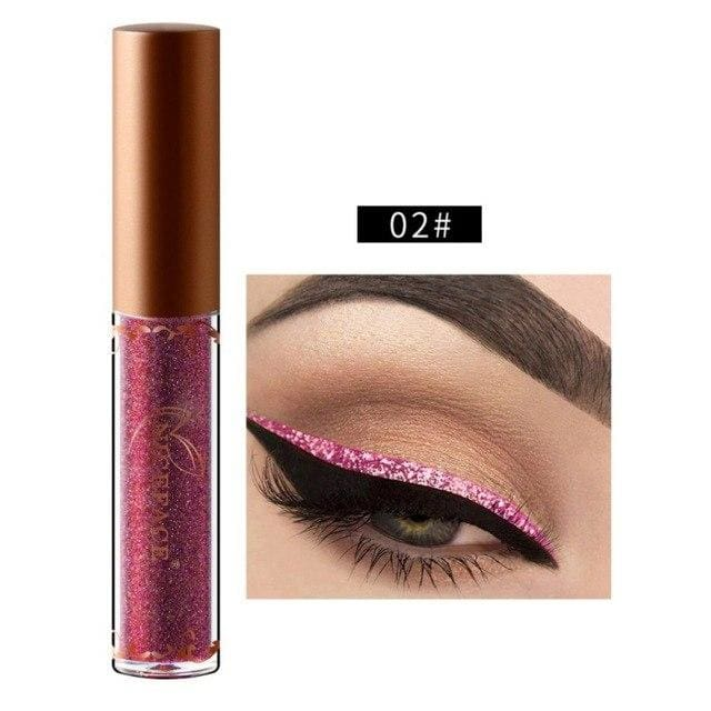 New Golden Shimmer Makeup Liquid Eyeliner Metallic 12 Colors Glitter Eyeliner Make Up Diomand 02