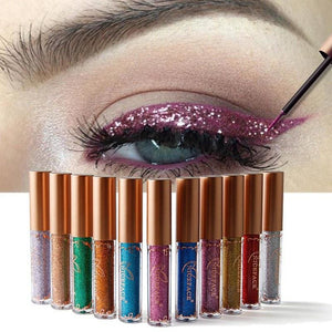 New Golden Shimmer Makeup Liquid Eyeliner Metallic 12 Colors Glitter Eyeliner Make Up Diomand