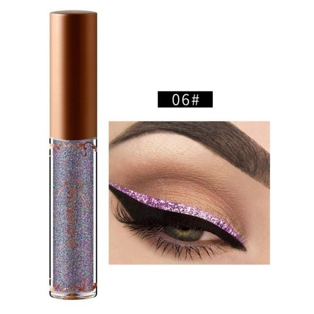 New Golden Shimmer Makeup Liquid Eyeliner Metallic 12 Colors Glitter Eyeliner Make Up Diomand 06