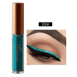 New Golden Shimmer Makeup Liquid Eyeliner Metallic 12 Colors Glitter Eyeliner Make Up Diomand 09