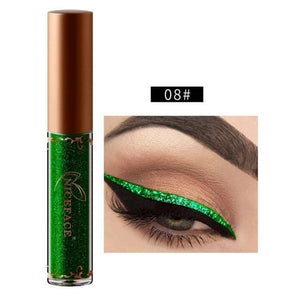 New Golden Shimmer Makeup Liquid Eyeliner Metallic 12 Colors Glitter Eyeliner Make Up Diomand 08