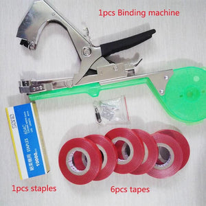 New High Quality Plant Branch Hand Tying Staples +Tapener +Tapesbinding Machine Flower Vegetable