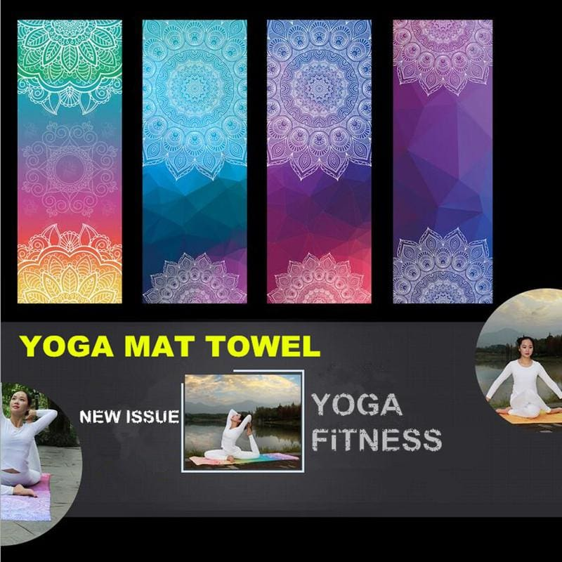 New Issue Retro Style Yoga Mat Towel Sport Fitness Gym Exercise Pilates Workout Portable Training