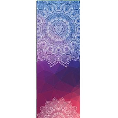 New Issue Retro Style Yoga Mat Towel Sport Fitness Gym Exercise Pilates Workout Portable Training Blue