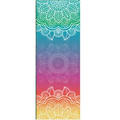 New Issue Retro Style Yoga Mat Towel Sport Fitness Gym Exercise Pilates Workout Portable Training Beige