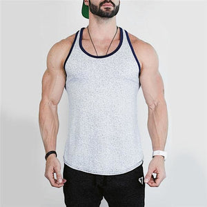 new Mens Bodybuilding Tank Tops sleeveless Shirt male Gyms Fitness vest Undershirt sportswear 1 2 / M