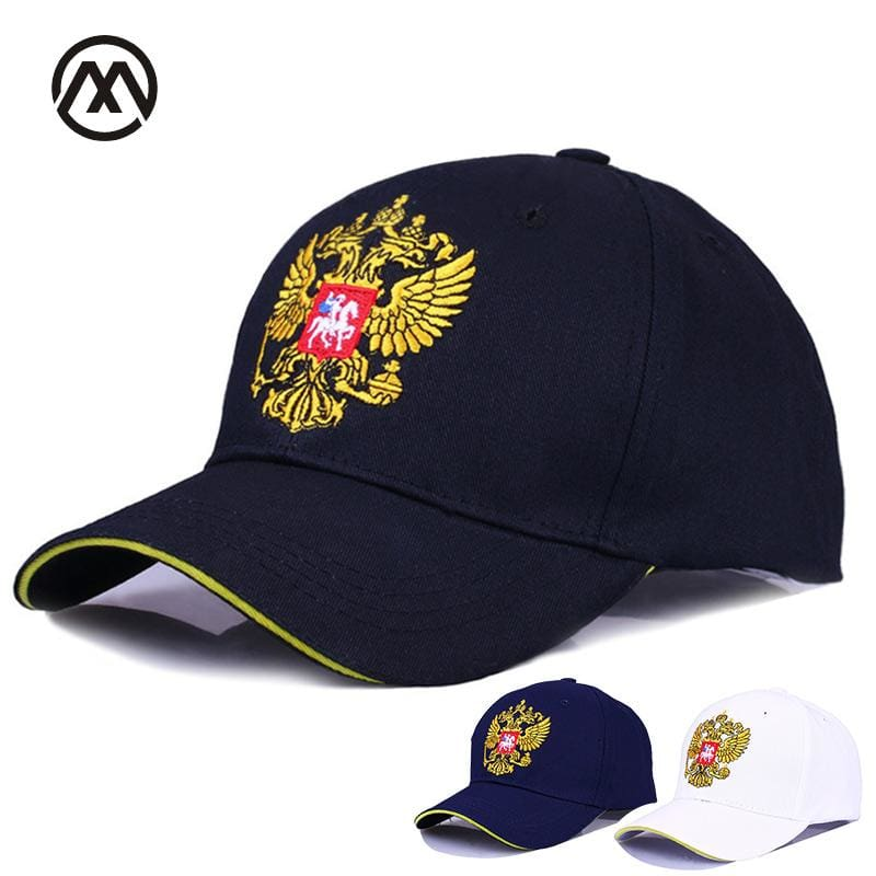 New Neutral Cotton Outdoor Baseball Cap Russia Badge Embroidery Snapback Fashion Sports Hat Men and