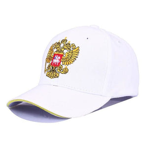 New Neutral Cotton Outdoor Baseball Cap Russia Badge Embroidery Snapback Fashion Sports Hat Men and White